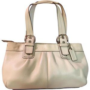 COACH East West SOHO Pleated Leather Tote 13732
